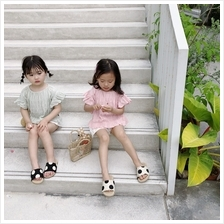 Kids Clothing Girls Tops Summer Cotton Korean Style Short Sleeved Outw