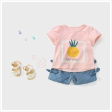 Kids Clothing Girls Tops Soft Cotton Short Sleeved Summer Spring Print