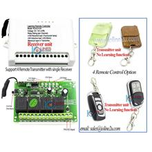 4ch 24/12V wireless RF Learning remote control auto gate lighting door  access
