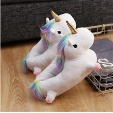 Unicorn Plush Soft Fluffy Home Slip-On Slippers Shoes