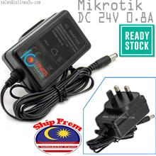 Mikrotik Genuine AC to 24V DC 0.8A Power adapter PSU for Router Board Cloud Sw