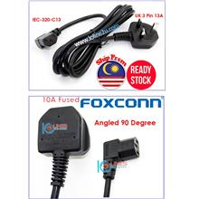 Foxconn FM-026A 1.8m C13 Angled L Power Cord CPU Monitor Printer 10A 250V Fuse