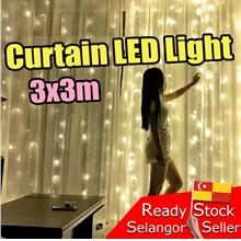 3x3m LED Curtain Light Romantic Event Wedding white warm Lampu Langsir