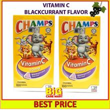 Champs Vitamin C 30mg Chewable Blackcurrant 100s x 2