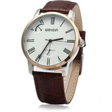 WEIQIN W23056 MALE ANALOG QUARTZ WATCH LEATHER BAND 5ATM WATER RESISTANT SMALL