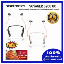 Plantronics Voyager 6200 UC, Bluetooth Neckband Headset with Earbuds