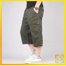 Men Straight Cut  Knee Length Casual Short Pants