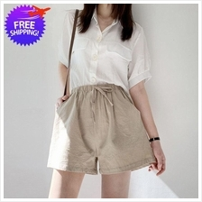 Women Ladies Cotton Linen Summer Wear Short Pants
