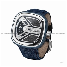 SEVENFRIDAY M1B/01 URBAN EXPLORER M-Series Auto Leather Blue Denim