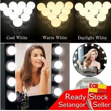 Beauty Make Up Light Dressing Table 10 LED Mirror Bulb Lampu Cermin