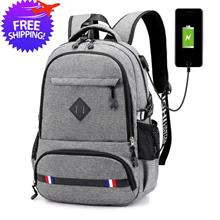 Men Women Large Capacity USB Connector Multipurpose Back Pack