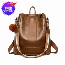 Vintage Design Women PU Leather Backpack