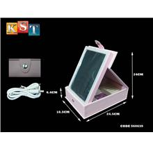 LED Makeup Mirror Light Foldaway With Cosmetic Jewellery Storage Easy