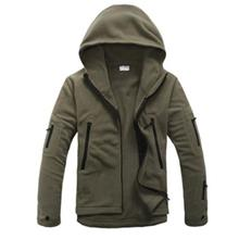 OUTDOOR SPORTS WARM SOFT SHELL MEN JACKET LINER FLEECE COAT (GREEN)