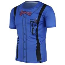 3D SUSPENDERS PATTERN T-SHIRT (BLUE)