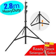Studio Light Stand heavy duty 2.8meter Spring Tripod Kaki Lighting