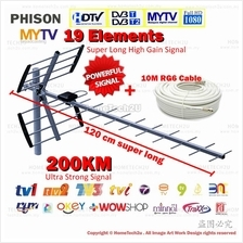 [NEW Upgrade] PHISON High Gain MYTV Digital Outdoor TV Antenna Aerial