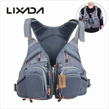 Lixada 3 In 1 Mesh Fly Fishing Vest and Backpack (gray)