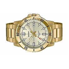 Casio Men Analog Gold Tone Stainless Steel Watch MTP-VD01G-9EV