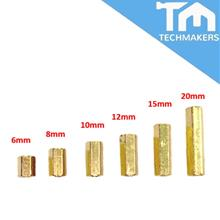 M3 Female to Female Brass Screw Thread PCB Stand-off Spacer (Nuts & N