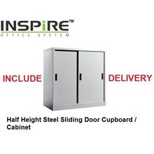 Half Height Steel Sliding Door Cupboard | Cabinet