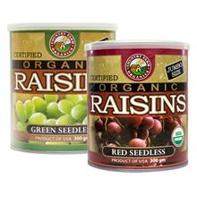 COUNTRY FARM Organic Raisins 2 x 300g Red Green Seedless