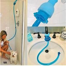 Universal Silicone Pet Shower Handheld Pet Rinser Quick Connector Dog