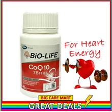 Biolife CoQ10 Coenzyme Q10 75mg 30s For Heart Energy