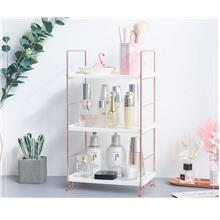 Rose Gold Storage Rack Skin Care Cosmetics Organizer Bathroom Storage