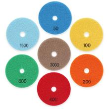 7pcs Diamond Polishing Pads Dry Grinding Discs for Granite Marble Conc..