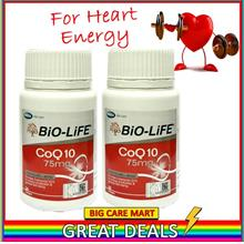 Biolife CoQ10 Coenzyme Q10 75mg 30s for Heart Energy X 2