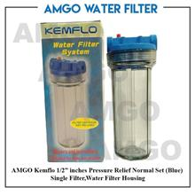 "AMGO Kemflo 1/2"" inches Pressure Relief Normal Water Filter Housing"