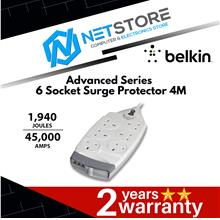 Belkin Advanced Series 6 Socket Surge Protector 4 Meter F9S620sa4M