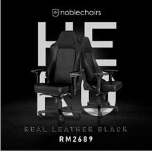 # noblechairs HERO Real Leather Gaming Chair # Full Black