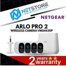 NETGEAR Arlo Pro 2 Wire-Free HD Camera Security System 4 Cam VMS4430P