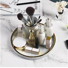 Elegant Marble Cosmetics Tray Perfume Storage Bathroom Storage