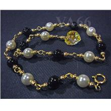 14K Gold Filled Swarovski Pearl Suasa Anklet Colours 925 Silver