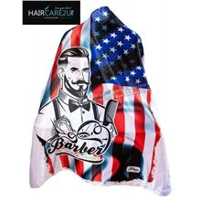 J-59 Barbershop USA Flag Hair Cutting Cloth Cape