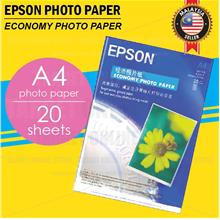 EPSON A4 Glossy Photo Paper 20 Sheets Color Inkjet Printer 180g
