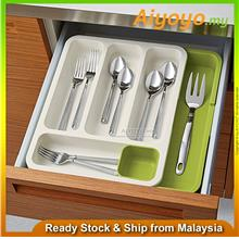 Expandable Kitchen Cutlery Tray Organizer Drawer Store for Spoon Knife Fork Ut