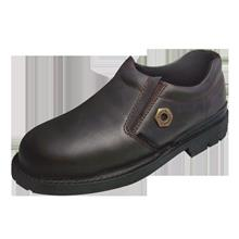 Safety Shoes Black Hammer Men Low Cut Slip On Brown BH4659