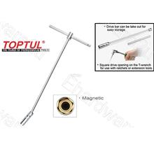TOPTUL Extra Long Ball Swivel Magnetic Spark Plug T-Wrench (CTHB)