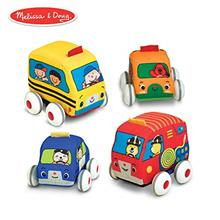 [From USA]Melissa & Doug Pull-Back Vehicles Soft Baby and Toddler Toy Set