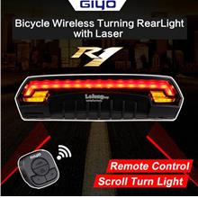 Bicycle Wireless Smart Remote Rechargeable Bike Tail Laser Lamp Light