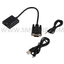 *Laptop VGA^Convert to HDMI HD Video Audio Converter Adapter Cable