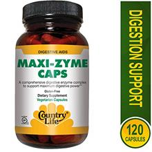 [From USA] Country Life - Maxi-Zyme Digestive Enzyme Complex - 120  Vegetarian