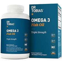[From USA] Dr Tobias Omega 3 Fish Oil Triple Strength 2000mg Burpless Non-GMO
