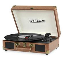 [From USA]Victrola Vintage 3-Speed Bluetooth Suitcase Turntable with  Speakers