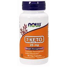 NOW Supplements 7-Keto 25 mg 90 Veg Capsules
