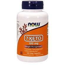 NOW Supplements 7-Keto 100 mg 120 Veg Capsules